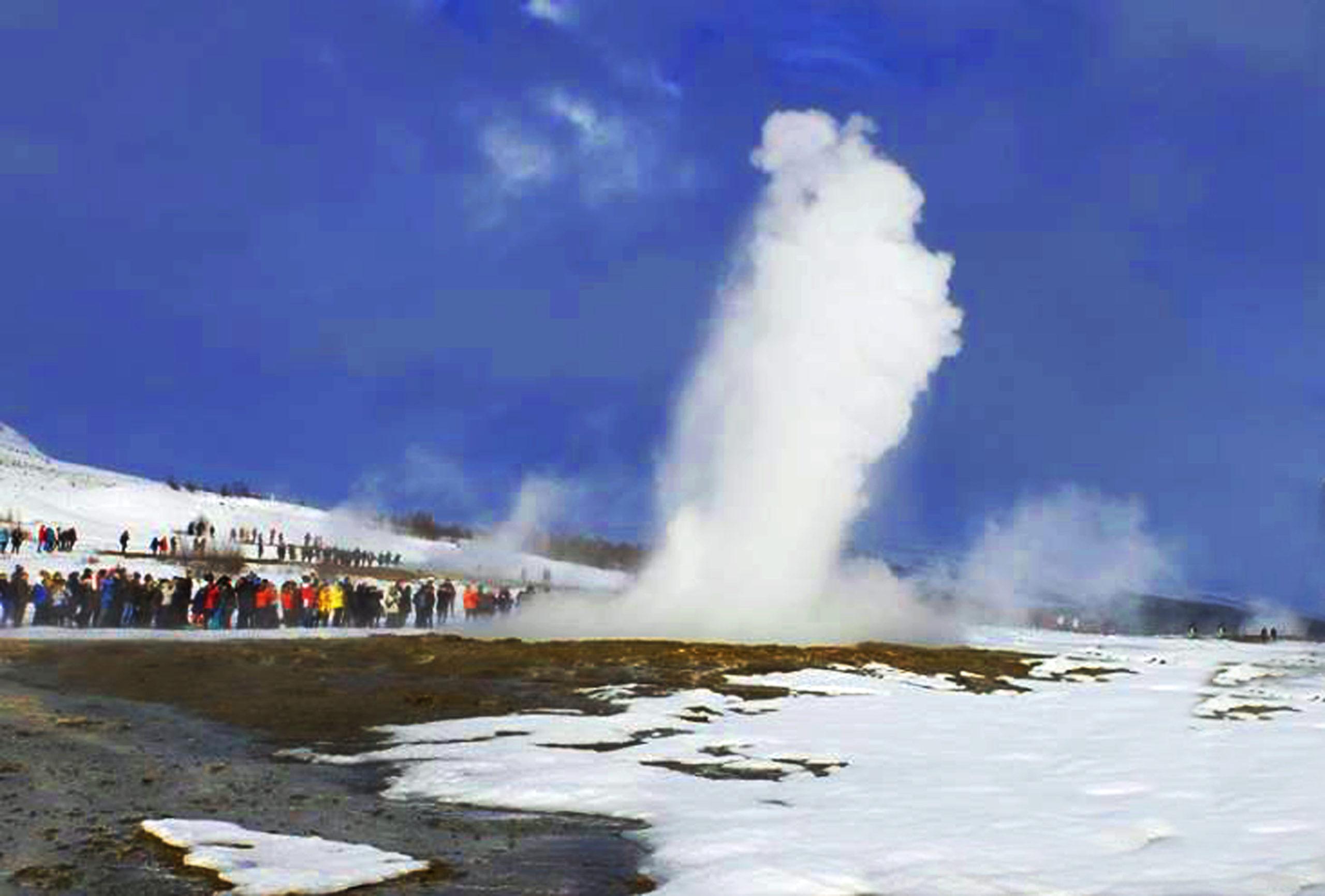 gaiser in eruzione